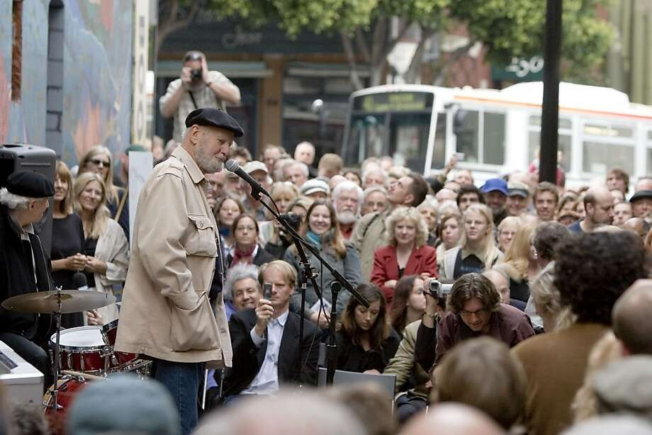 Lawrence Ferlinghetti at the 2009 S.F. International Poetry Festival Photo: S.F. Main Library