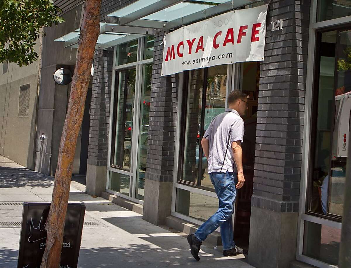 The exterior of Moya Ethiopian Eatery & Cafe in San Francisco, Calif., is seen Thursday, July 18th, 2012.