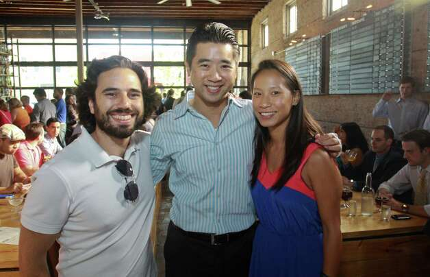Josh Cincinnati, from left, with Kenny Tsai and Janae Tsai Photo: Gary Fountain / Copyright 2012 Gary Fountain. 713-231-6178.