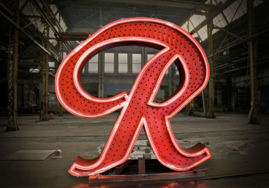 "The historic Rainier Beer ""R."" Photo: PRNewsFoto/Rainier Beer / RAINIER BEER"