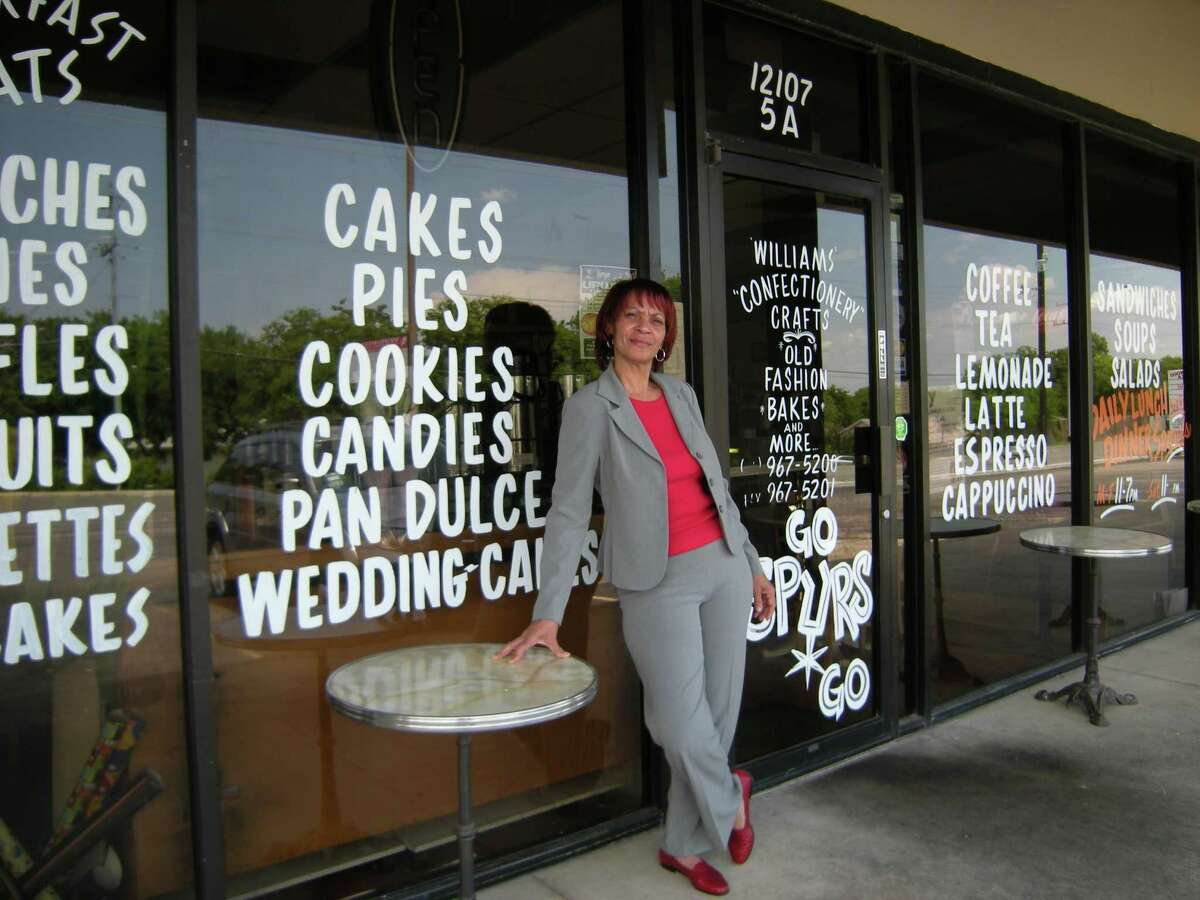 Joyce Williams stands outside Williams Confectionary Crafts, the restaurant-bakery she opened six years ago in Live Oak.