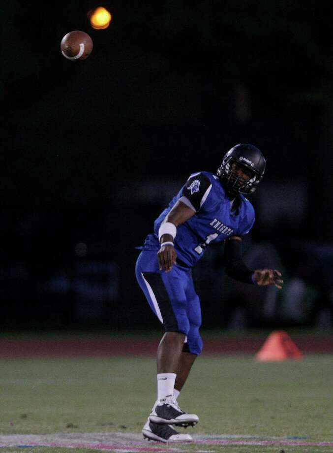 Episcopal quarterback Austin Robinson is expected to thrive in the Knights' spread offense. Photo: Thomas B. Shea / Freelance