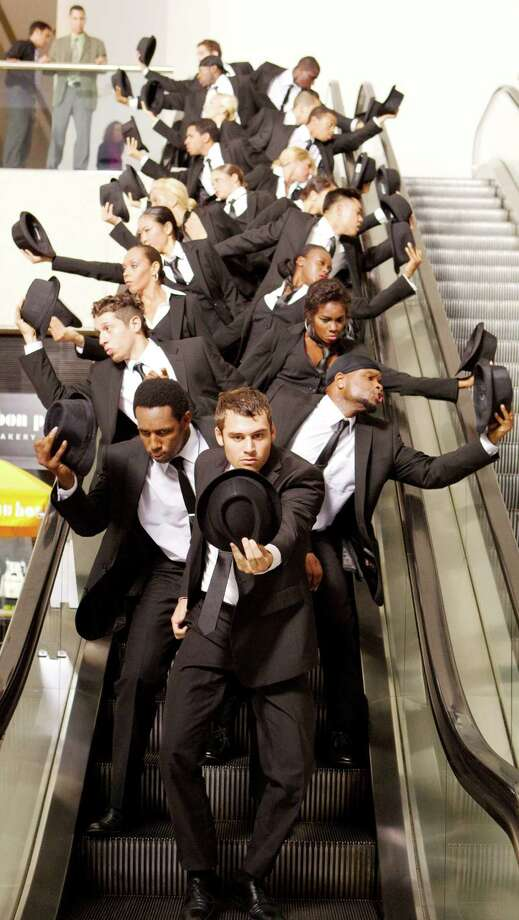 RYAN GUZMAN (front) leads a flash mob in a scene from STEP UP: REVOLUTION Photo: Sam Emerson, SMPSP , Summit Entertainment / © 2011 Summit Entertainment, LLC.  All rights reserved.