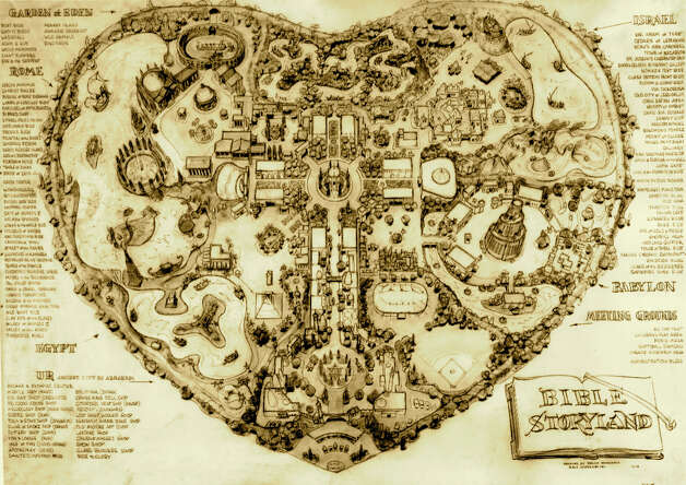 The proposed 1960s theme park was shaped like a heart to symbolize God's love. Photo: Courtesy, Beekeeper Productions