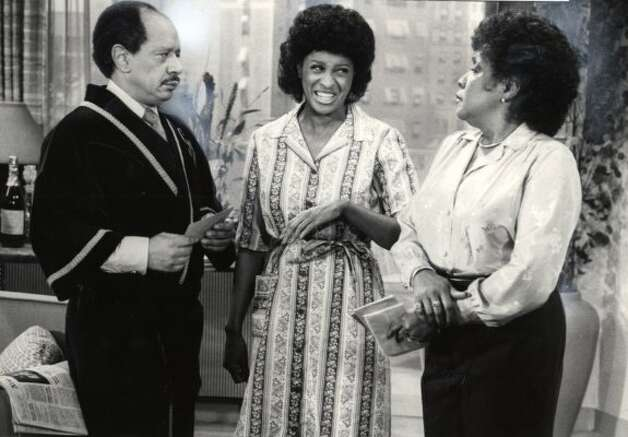 GEORGE (SHERMAN HEMSLEY), FLORENCE (MARLA GIBBS, CENTER) AND LOUISE (ISABEL SANFORD) (HANDOUT / SFC)