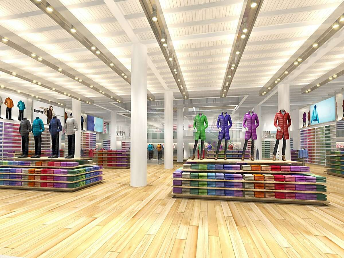 A rendering of the interior of the San Francisco Uniqlo, which will open in fall 2012 on Powell Street.