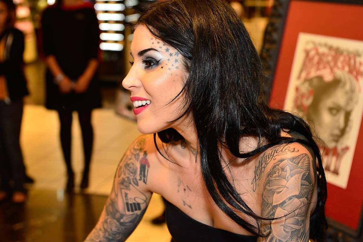 """Kat Von D's first solo art show """"New American Beauty"""" at Sephora Powell on July 19 in San Francisco,."""