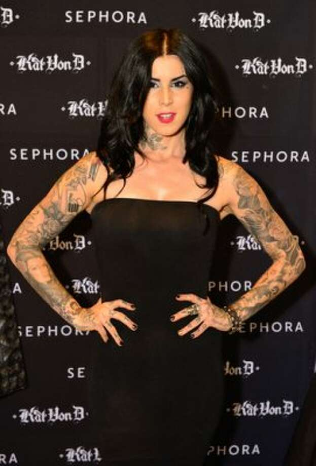 Kat Von D attends her art show.  (Steve Jennings/ Getty Images for Sephora)