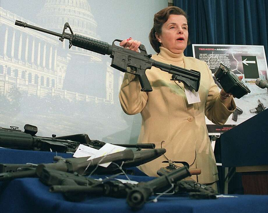 Sen. Dianne Feinstein led the effort to ban assault weapons after a mass shooting in San Francisco. Photo: John Duricka, Associated Press