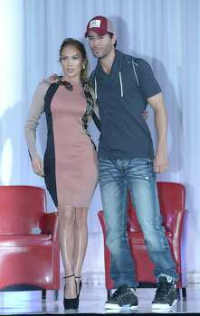 HOLLYWOOD, CA - APRIL 30:  Singer Jennifer Lopez (L) and singer Enrique Iglesias announce their Summer Tour at Boulevard3 on April 30, 2012 in Hollywood, California.  (Photo by Michael Buckner/Getty Images) Photo: Michael Buckner, Getty Images / 2012 Getty Images