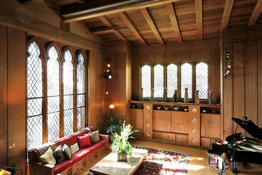 A Bernard Maybeck-designed home, this North Berkeley residence, once known as the the Kennedy-Nix