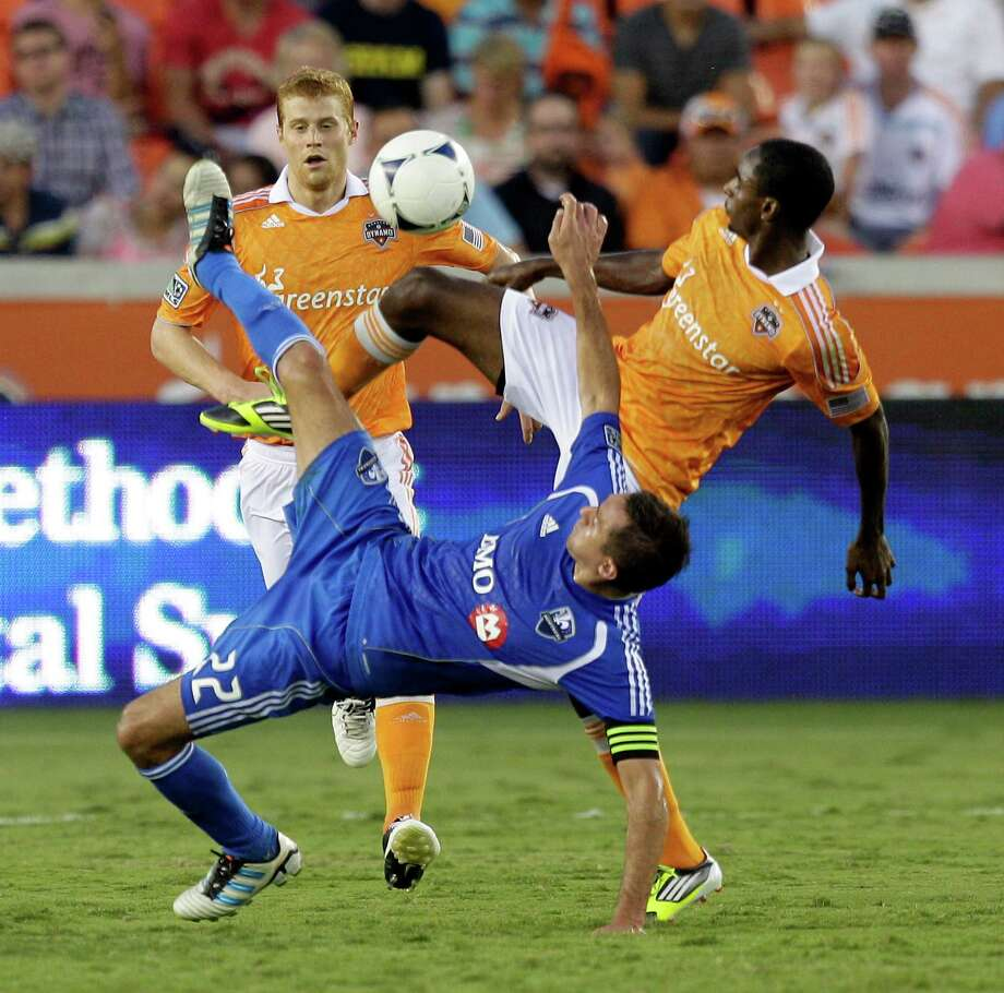Warren Creavalle, right, will have a chance to show off his skill as a defender in Champions League play now that he has recovered from a left ankle injury. Photo: Bob Levey / 2012 Getty Images