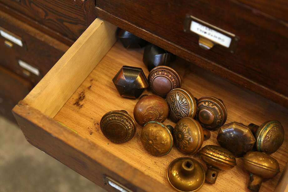 Salvaged doorknobs are among the vintage items available at the new Rejuvenation store on Fourth Street & Rejuvenation lighting comes to Berkeley - SFGate