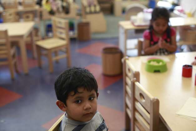 Diego Careta, 3, takes a break from the craft table at the Mission Head Start program on Tuesday July 24, 2012 in San Francisco, Calif.  A new study that shows California has fallen from 16th to 41st in the country when it comes to children's well-being. The rankings take into account economic well-being, education, health, and family and community. Photo: Mike Kepka, The Chronicle