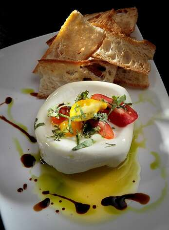 The House-Made Burrata at Mozzeria restaurant in San Francisco, Calif., is seen on Wednesday, July 18th, 2012. Photo: John Storey, Special To The Chronicle
