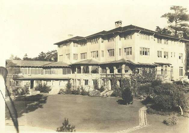 The La Playa hotel in 1926. The core of the 75-room hotel, where the main entrance is today, began life in 1905 as a mansion designed by landscape artist Christian Jorgensen for his wife, a member of the Ghirardelli family. Photo: La Playa Hotel