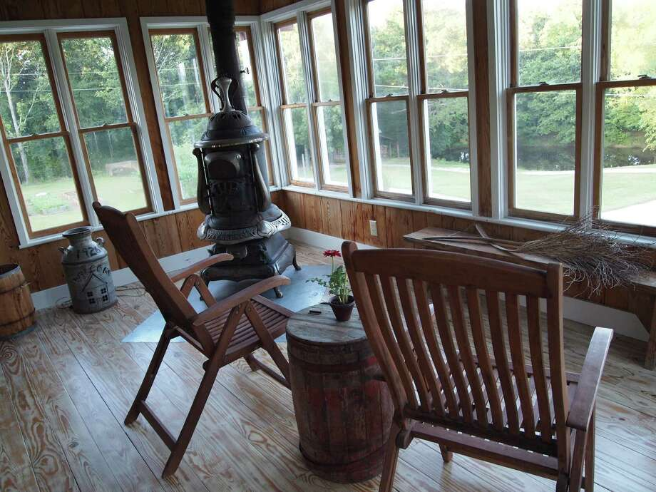 Country comfort with a view from the enclosed porch of The Barn Loft at Willowdale Farms in Oxford, Mississippi. Photo: Forrest Jividen , For The Express-News