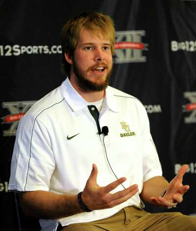 Baylor quarterback Nick Florence answers a question at NCAA college football Big 12 Media Days, Tuesday, July 24, 2012, in Dallas. Photo: AP