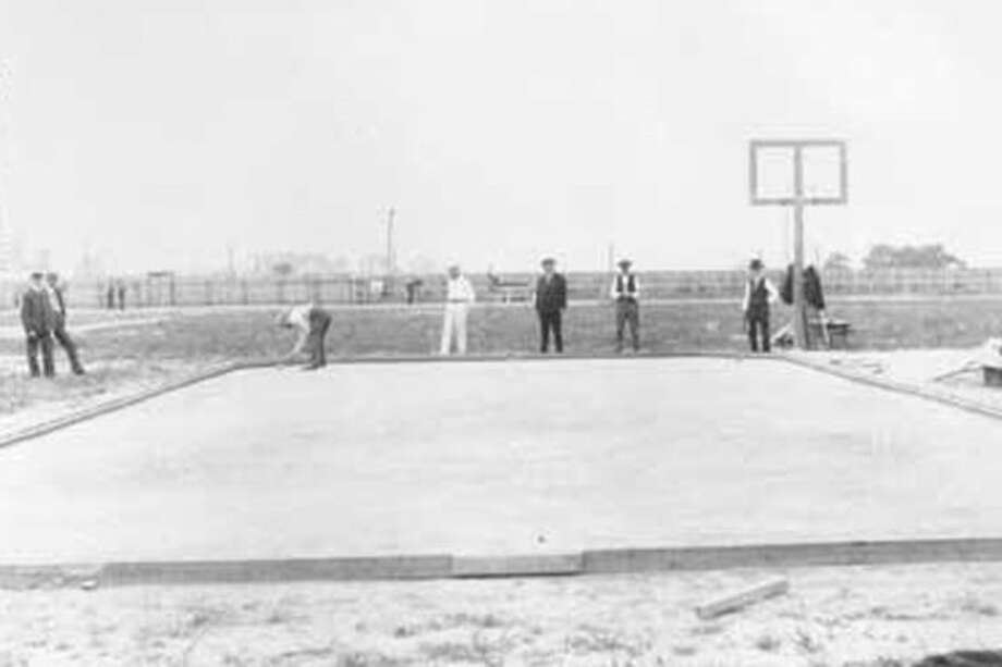 At the 1904 Summer Olympics in St. Louis, a roque tournament was contested. The United States was the only nation to have athletes participate. It was the only time that roque was included in the Olympic program. Photo: Wikimedia Commons