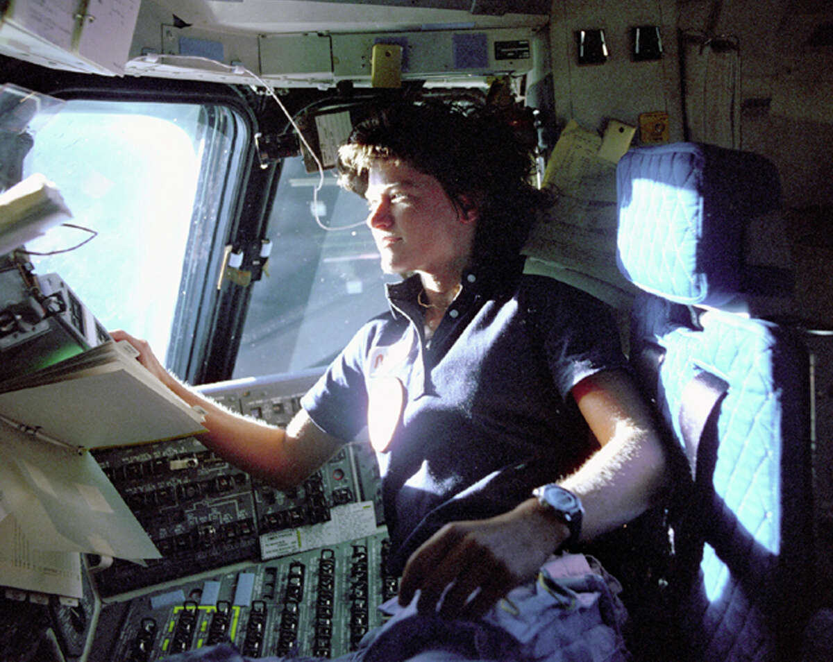 A statue of astronaut Sally Ride, a specialist on shuttle mission STS-7, may replace that of Father Junipero Serra.
