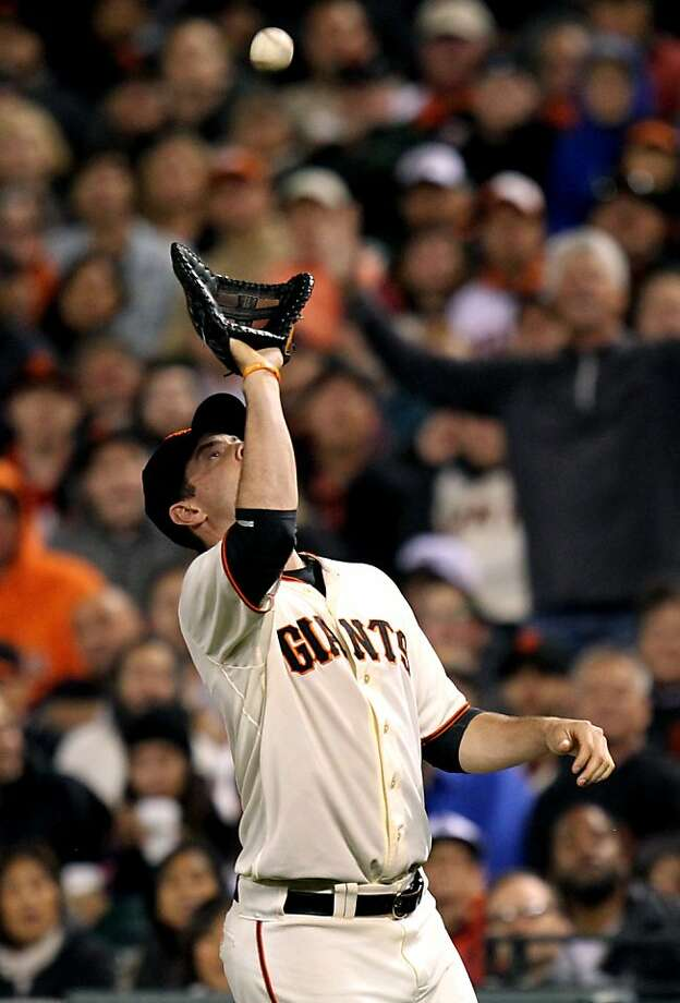 Brandon Belt has established himself as a strong defensive player at first base. Photo: Lance Iversen, The Chronicle