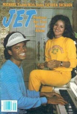 Michael and La Toya Jackson, 1980. (Jet) / SF