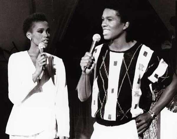 Whitney Houston and Jermaine Jackson, 1984. (Motown) / AP1984