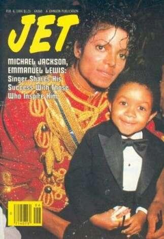 Michael Jackson and Emmanuel Lewis, 1984. (Jet) / SF