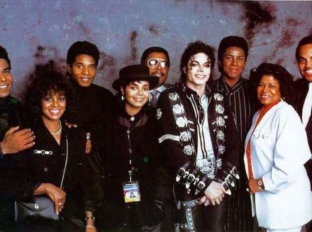 The Jackson family joins Michael Jackson on tour, 1989. (Sony) / SF