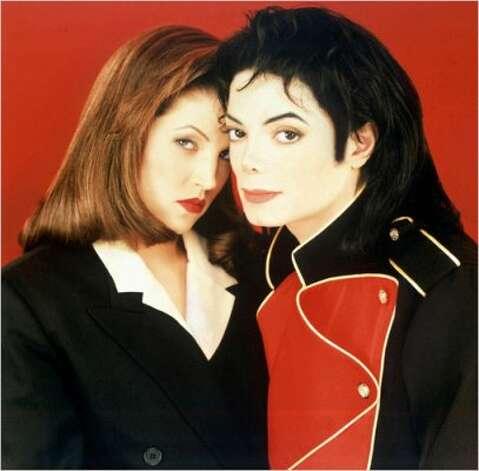 Michael Jackson with wife Lisa Marie Presley, 1994. (Sony) / SF