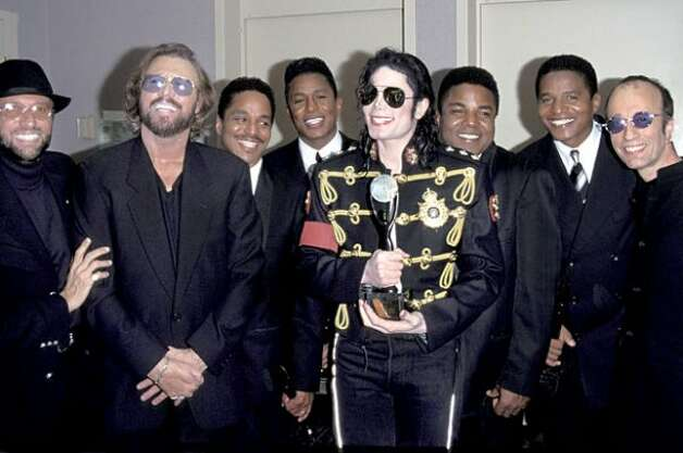 The Jacksons at the Rock and Roll Hall of Fame, 1997. (Getty) / SF