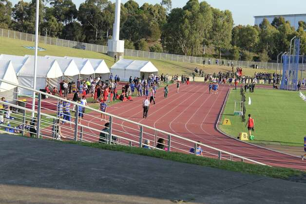 This Sept. 15, 2011 photo shows a track used for warm-up during the 2000 Olympics is shown at the Athletic Centre in Sydney. This track and an adjacent track are open for recreational use when there isn't an event. The bulk of the Sydney Games in 2000 took place at Sydney Olympic Park, a short train ride from the city's center. The opening and closing ceremonies were held in what is now ANZ Stadium. As part of the tour, you can pose for photos standing on a medal stand _ take your pick of gold, silver or bronze. An extended, pricier Gantry Tour takes you high above the field along steel mesh walkways used by crews to access lighting and sound equipment. Photo: AP