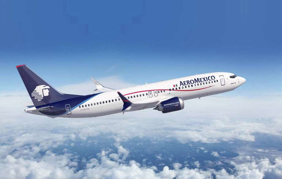 An Aeromexico Boeing 737 MAX is shown in this artist's depiction. Photo: The Boeing Co.