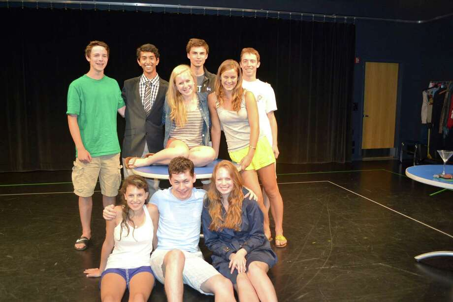 "The Greenwich Academy-Brunswick School Red Chair Players will perform the play ""Dead Man's Cell Phone"" in Scotland at the Edinburgh Fringe Festival on July 28. Members of The Red Chair Players include: Back row, from left: Kirk Meyer, Ashish Ramachandran, Matthew Cassoli and Addison Bennett. Middle row: Anna Skelseyand Kira Schott. Front Row: Jessie Vissicchio, Sumner Welles and Alyssa Hagerbrant. Photo: Contributed Photo"
