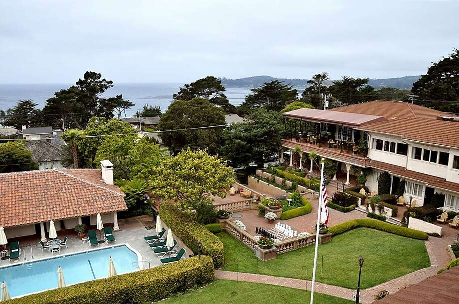 The garden and pool area was once a rocky field sloping down to the sidewalk. Photo: Christine Delsol, Special To SFGate
