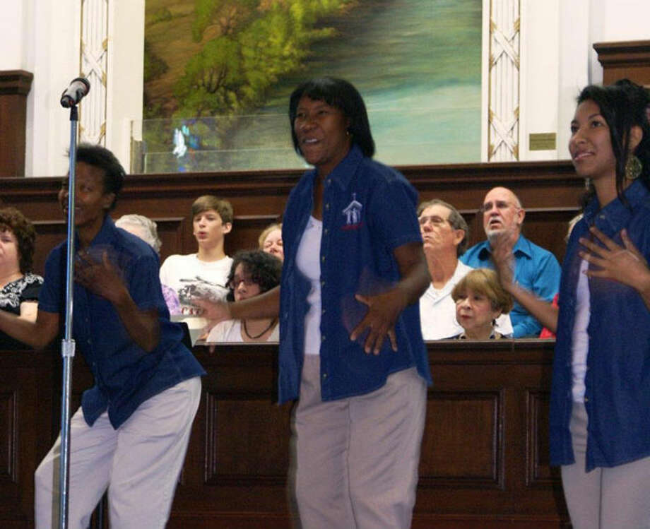 Members of the new Family Deaf Church recently took part in a July 15 joint service at Baptist Temple Church. The service was conducted in English, Spanish, and American Sign Language.  Courtesy photo