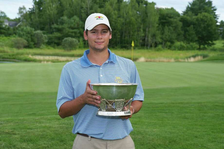 CJ Swift of New Canaan won the 2012 New England Amateur Championship Title on Thursday, July 19, 2012. Swift carded a 2-under par, 282, five strokes ahead of the field at Falmouth Country Club in Falmouth, Maine. Photo: David Colt/Contributed Photo