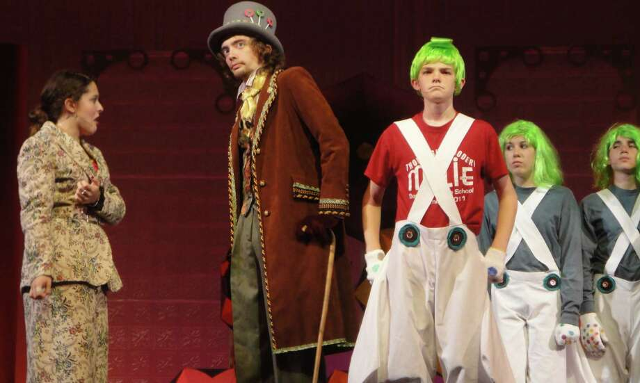 Matthew Van Gessel, 19, of Westport tackles the wacky role of Willy Wonka in the musical of the same name, staged this weekend by the Staples Players Summer Theatre. Photo: Meg Barone / Westport News freelance