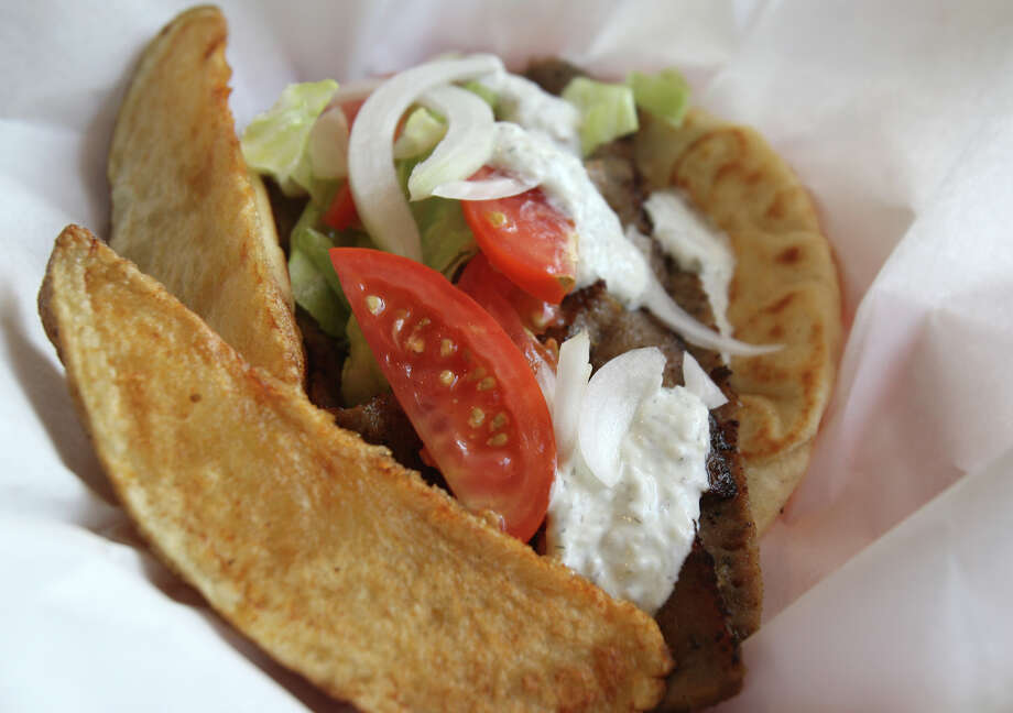 Gyro wrap Monday July 23, 2012 at Casa de Kabob. Photo: Julysa Sosa / SAN ANTONIO EXPRESS-NEWS