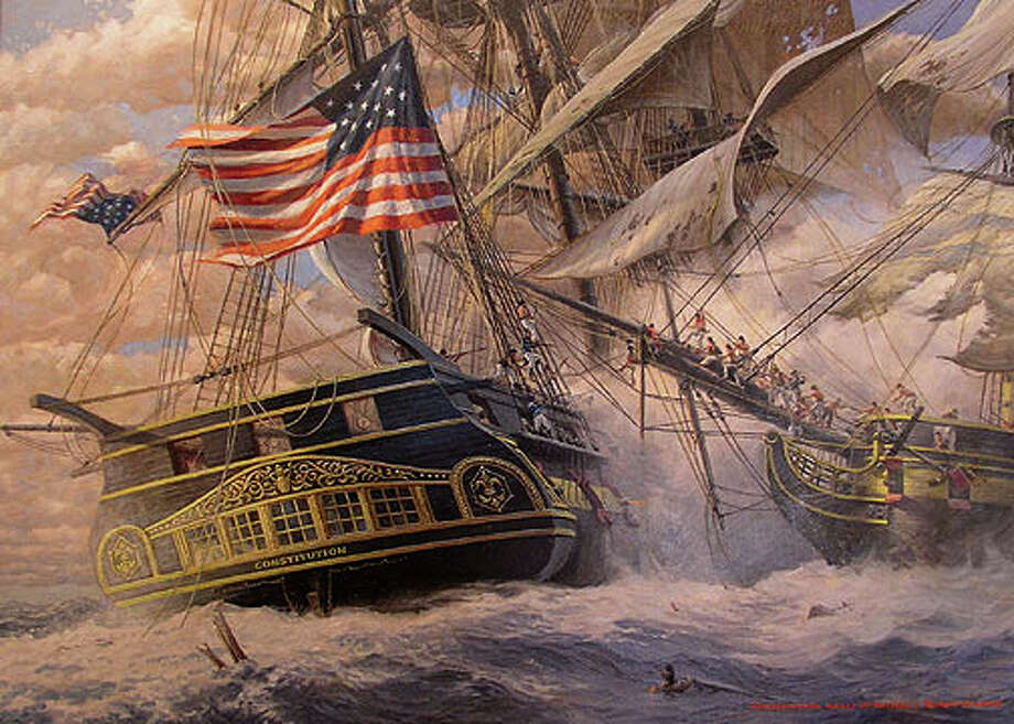 "Robert Sticker's ""USS Constitution Meets Guerriere"" will be included in ""The War of 1812 at Sea"" exhibit at the Fairfield Museum. Photo: Contributed Photo"