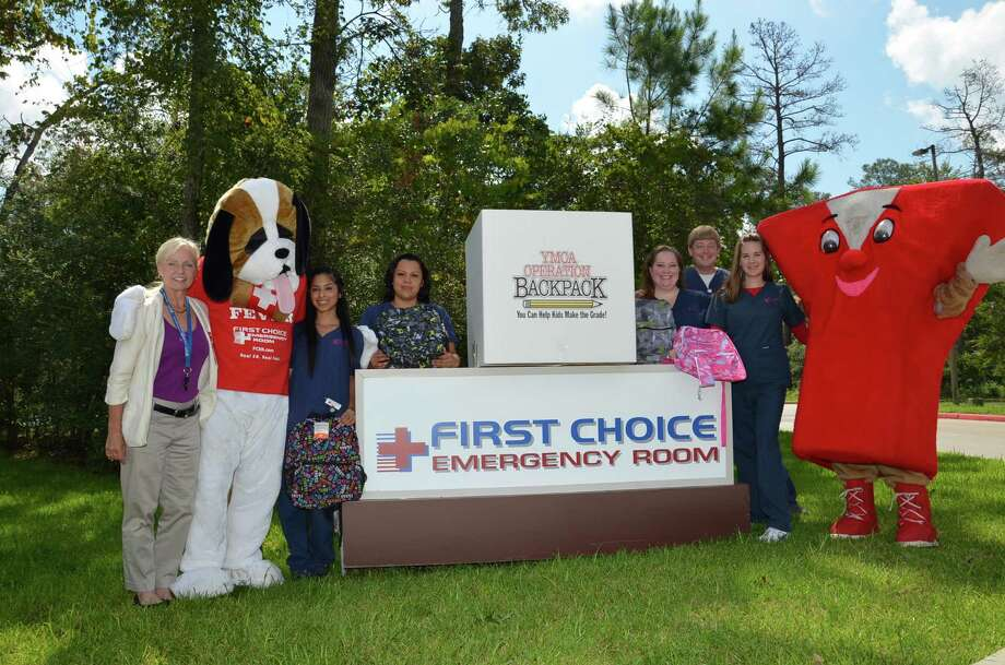 Pictured from left to right: Teena Sandberg Houston Marketing Rep, Fever, The ER Dog, Stephanie Garcia, Angela Garcia, Rachel Schaffer, Andrew Odinga, Kristen Edwards, Y Guy.