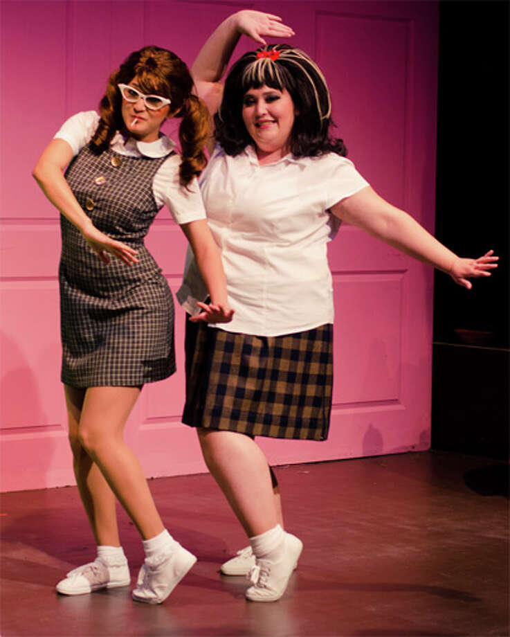"Jovi Lee Gonzales (left) and Krystal Newcomer play best pals in ""Hairspray.""