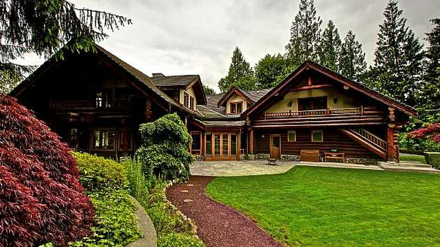 Exterior of a Snoqualmie home set for sale at auction on Aug. 9. Photo: J. P. King Auction Co.