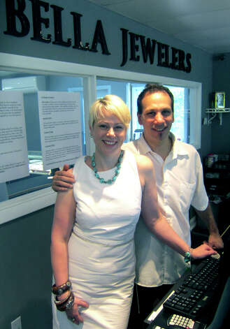 Michelle and Peter Fusaro have settled their Bella Jewelers business comfortably at 214 Danbury Road in New Milford. Bela is now in its 11th year in the community. June 2012 Photo: Norm Cummings