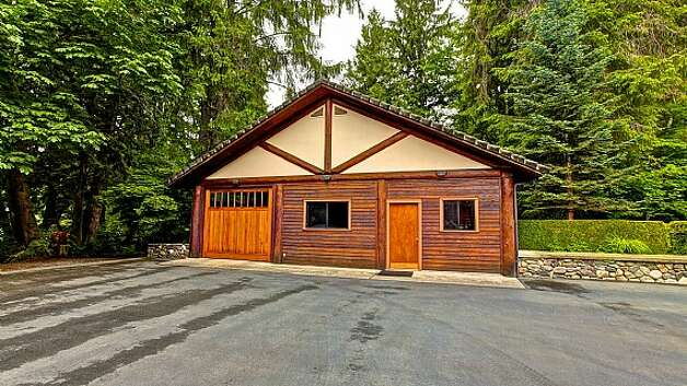 Outbuilding of a Snoqualmie home set for sale at auction on Aug. 9. Photo: J. P. King Auction Co.