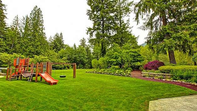 Playground of a Snoqualmie home set for sale at auction on Aug. 9. Photo: J. P. King Auction Co.