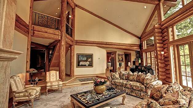 Massive snoqualmie lodge set for auction for Living room with 9 foot ceilings