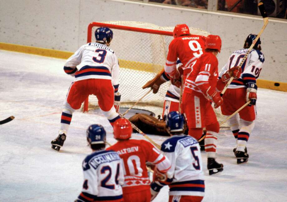 The U.S. boycotted the Moscow Olympics of 1980, making a statement against Soviet war in Afghanistan. In return the Soviet Union boycotted the 1984 Olympics in Los Angeles. (This photo shows the U.S. Olympic hockey team beating the Soviet Union in a 1980 Winter Games semifinal, one of the biggest sports upsets in history.) Photo: Steve Powell, Getty Images / 1980 Getty Images