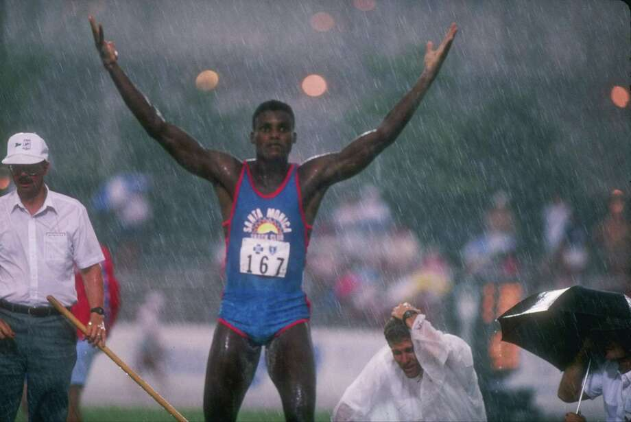 Runner Carl Lewis (pictured here in 1988) won his his fourth gold 