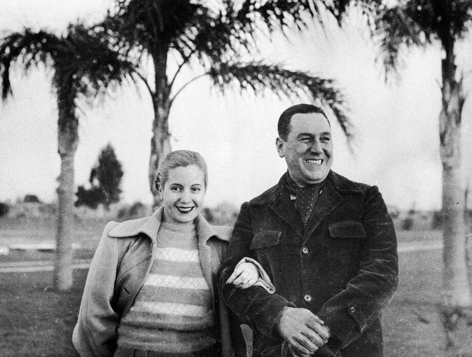Argentina's President Juan Peron and his wife Maria Eva Duarte de Peron, known as Evita, were that country's power couple. While he rose through the government ranks, she became beloved by the public / hated by the upper class for her work with the poor.  Sadly, this union would be short-lived. Evita died of cancer in 1952 at the age of 33.   Photo: Anonymous, Associated Press / AP